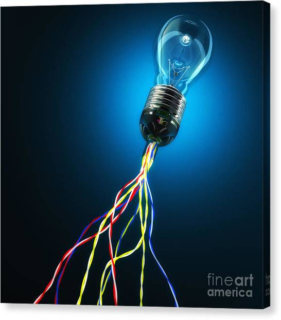 Light Global Connection Canvas Print