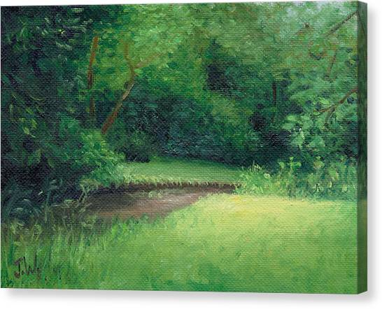 Canvas Print featuring the painting Light In August by Joe Winkler