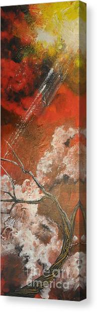 Light In The Red Sky Canvas Print