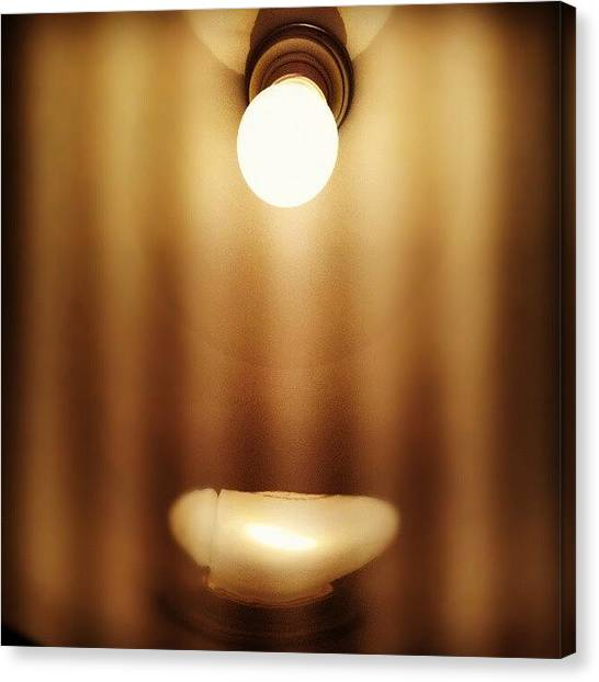 Light Canvas Print - #light #lamp by Torbjorn Schei