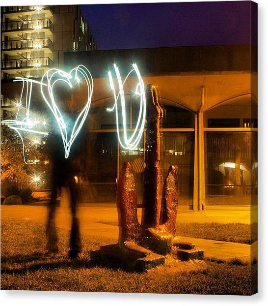 Ucsd Canvas Print - Light Painting! #love #heart #revelle by Anthony Wang