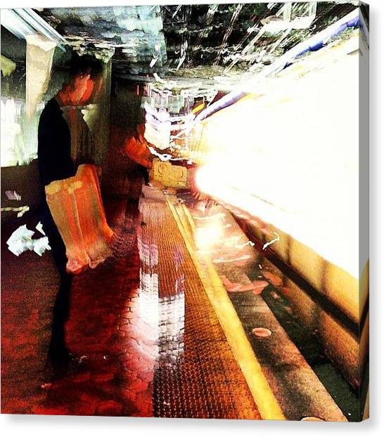 Impressionism Canvas Print - Light Rail by Rob Murray