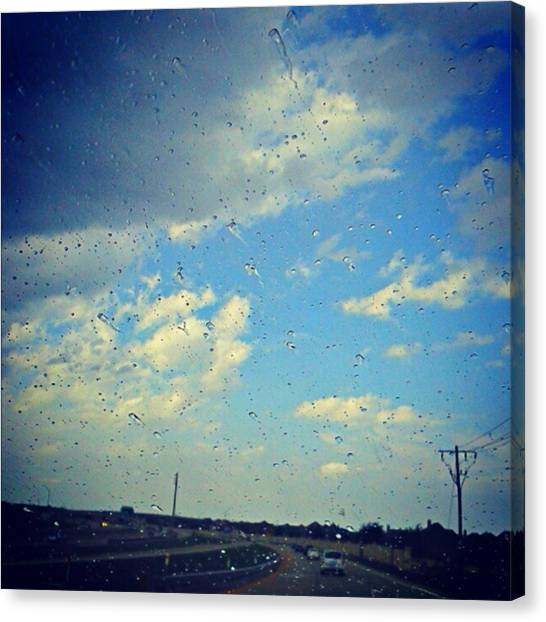 Light Showers In June... #instadroid Canvas Print by Kel Hill