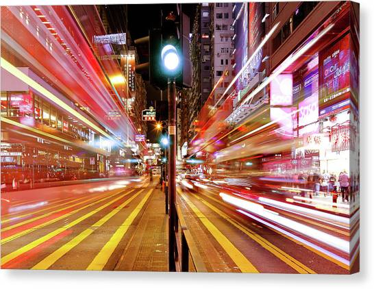 Stoplights Canvas Print - Light Trails by Andi Andreas