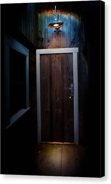 Lighted Doorway Canvas Print by Raymond Potts