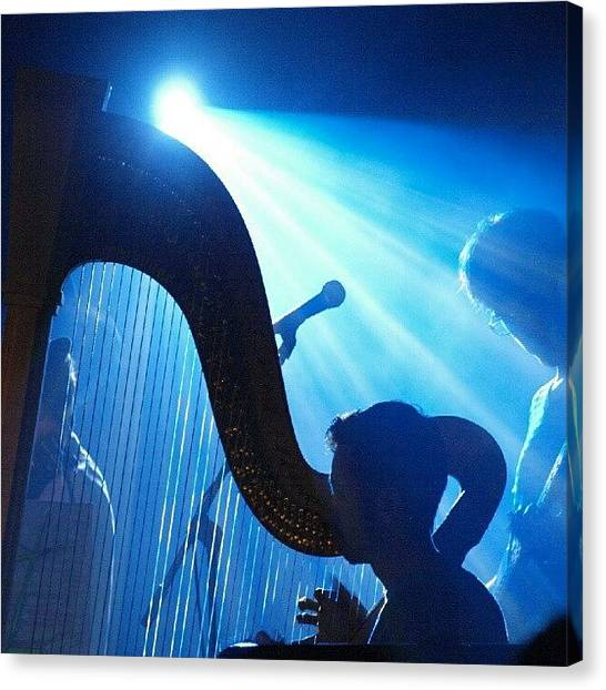 Bands Canvas Print - Lighted Harp by James Granberry