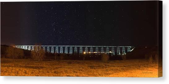 Lighted High Level Bridge Canvas Print