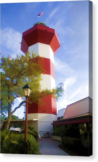 Lighthouse At Hilton Head Canvas Print
