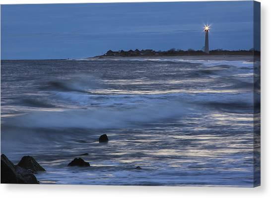 Lighthouse At Twilight Canvas Print