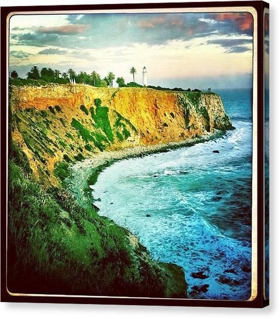 Beach Cliffs Canvas Print - Lighthouse  by Chris Fabregas