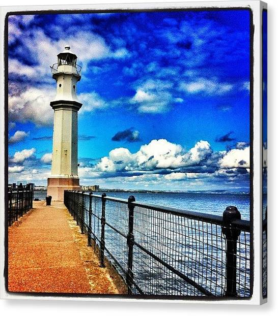 Lighthouses Canvas Print - #lighthouse In #edinburgh #scotland by Joey El Burro