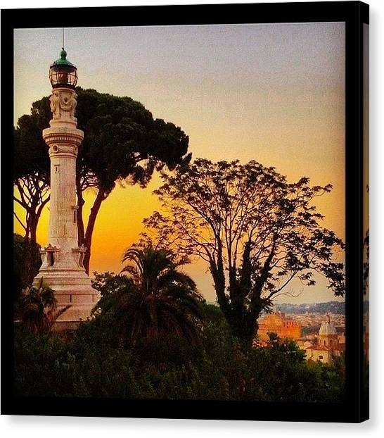 Rome Canvas Print - Lighthouse In Rome by L. Chris Curry