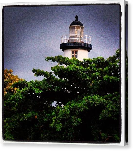 Lighthouses Canvas Print - Lighthouse Of Rincon, Puerto Rico by Luis Alberto