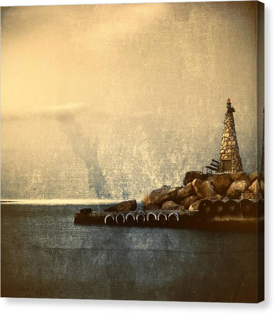 Peace Tower Canvas Print - Lighthouse by Stelios Kleanthous