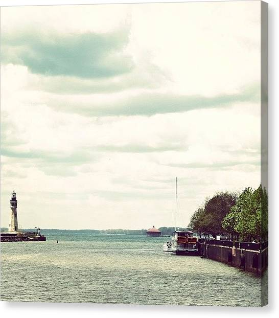 Harbors Canvas Print - #lighthouse #water #canal #harbor by Jenna Luehrsen