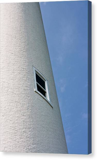 Lighthouse Window Canvas Print by Jeffrey Auger
