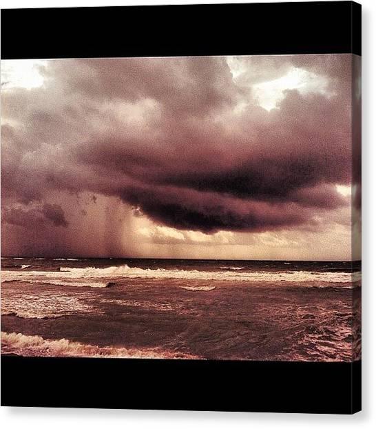 Hurricanes Canvas Print - #lightning #instaaddict #instanusantara by Alexandr Dobrovan