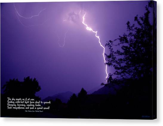 Lightning Over The Rogue Valley Canvas Print