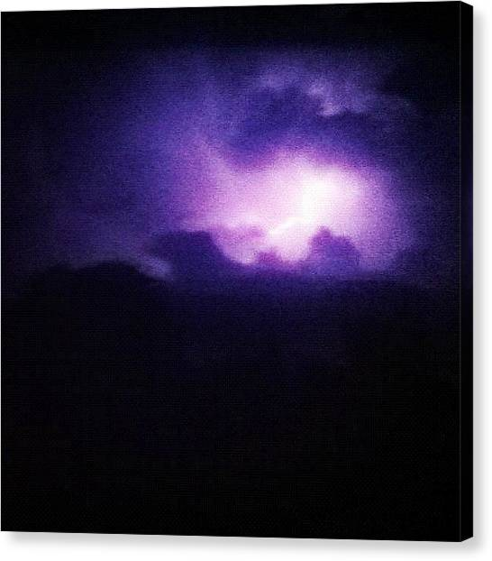 Lightning Canvas Print - #lightning #thunder #guernsey #rare by Andy Brown