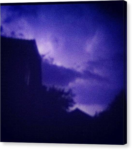Lightning Canvas Print - #lightning #thunder #rare #guernsey by Andy Brown