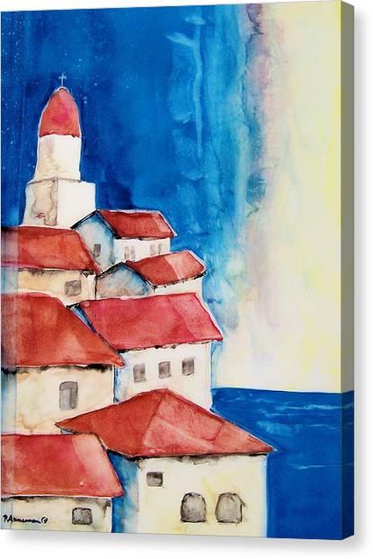 Ligurian Coaast Canvas Print by Regina Ammerman