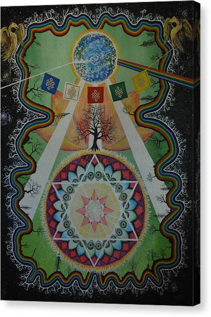 Like A Flower On The Farther Side Of Death Canvas Print by Matthew Fredricey