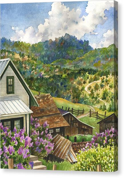 Colorado Canvas Print - Lilacs At Walker Ranch by Anne Gifford