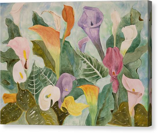 Lillies For Lilly Canvas Print by Diane Vasarkovy