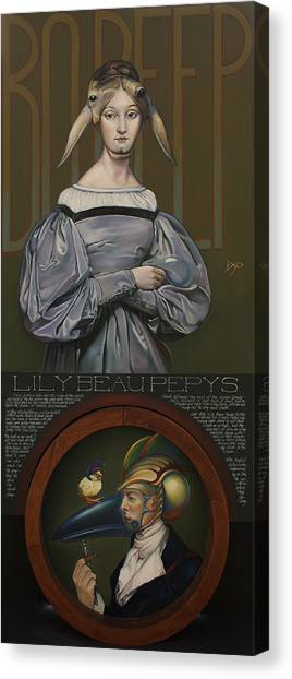 Nursery Rhyme Canvas Print - Lily Beau Pepys by Patrick Anthony Pierson