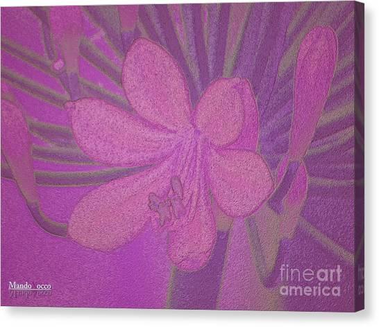 Lily Fleur Line Canvas Print