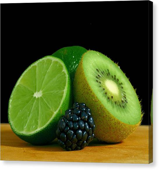 Kiwis Canvas Print - Lime It Up by Davor Sintic