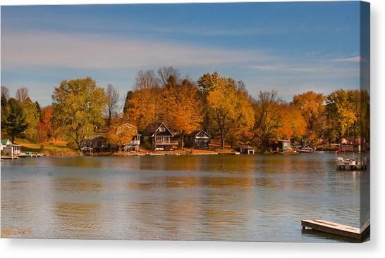 Lime Lake Canvas Print