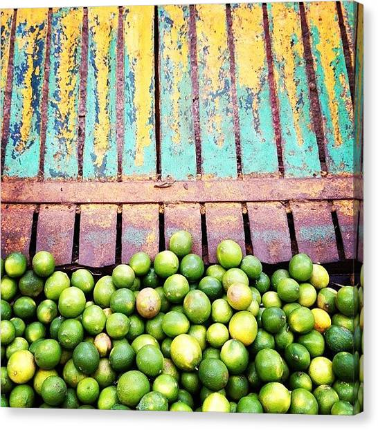 Limes Canvas Print - Limes & Metal by Arturo Peniche
