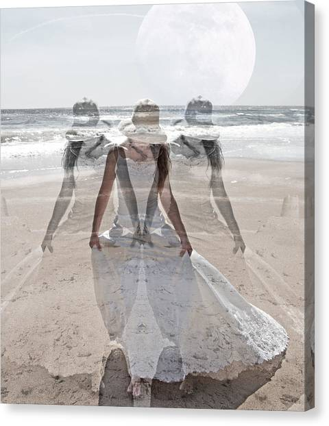 Wedding Gown Canvas Print - Limitless  by Betsy Knapp