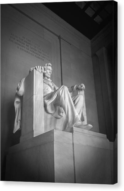 Lincoln Memorial Canvas Print - Lincoln Memorial  by Mike McGlothlen
