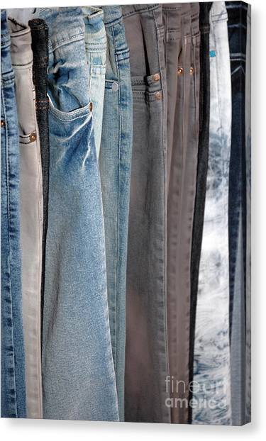 Line Of Jeans Canvas Print by Antoni Halim