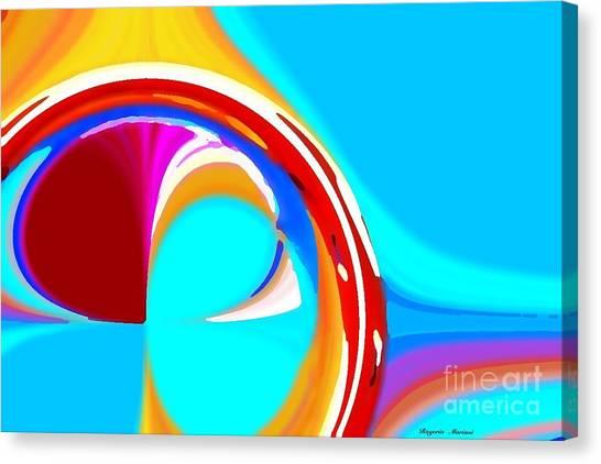 Linear Circles Canvas Print