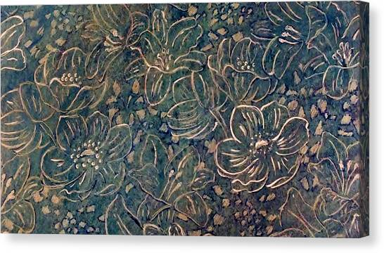 Linear Floral Canvas Print by Emma Manners