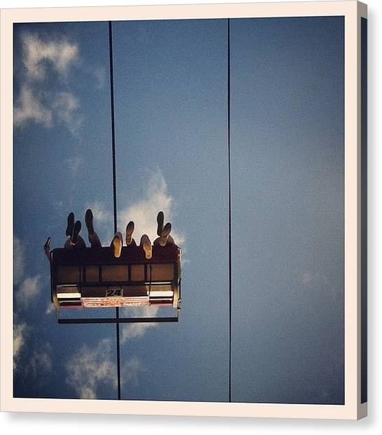 Soda Canvas Print - Lines In The Sky by Soda Love