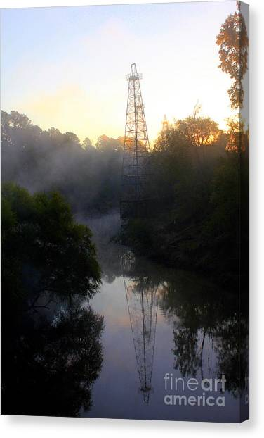 Eagle Scout Canvas Print - Lingering Fog by Kathy  White