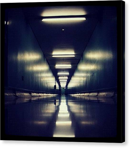Science Fiction Canvas Print - Link Tunnel by Susannah Mchugh