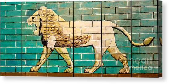 Lion Of Babylon Canvas Print by Unknown - Local Iraqi National