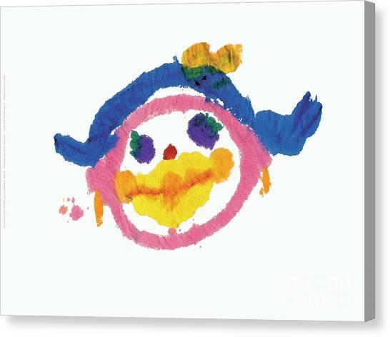 Lipstick Face Canvas Print