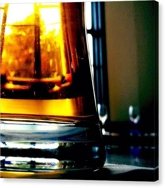 Liquids Canvas Print - #liquid #gold #beer #lager by Daniela Leach