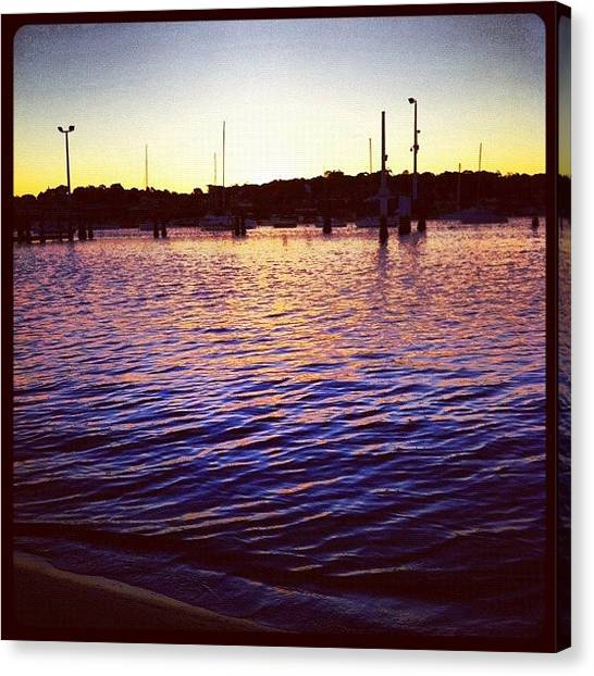Saints Canvas Print - Liquid Gold #iphoneography by Kendall Saint