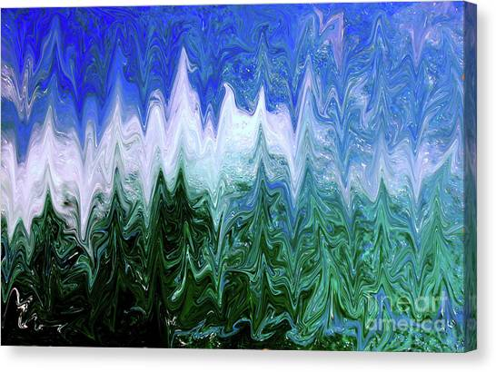 Liquid Green Splash Canvas Print