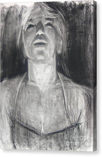Canvas Print featuring the drawing Lit by Gabrielle Wilson-Sealy