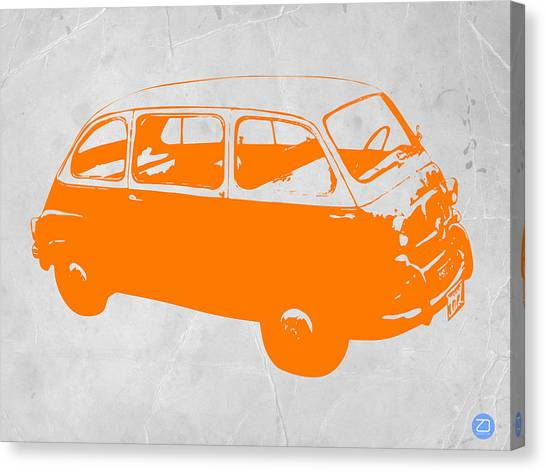 Beetle Canvas Print - Little Bus by Naxart Studio