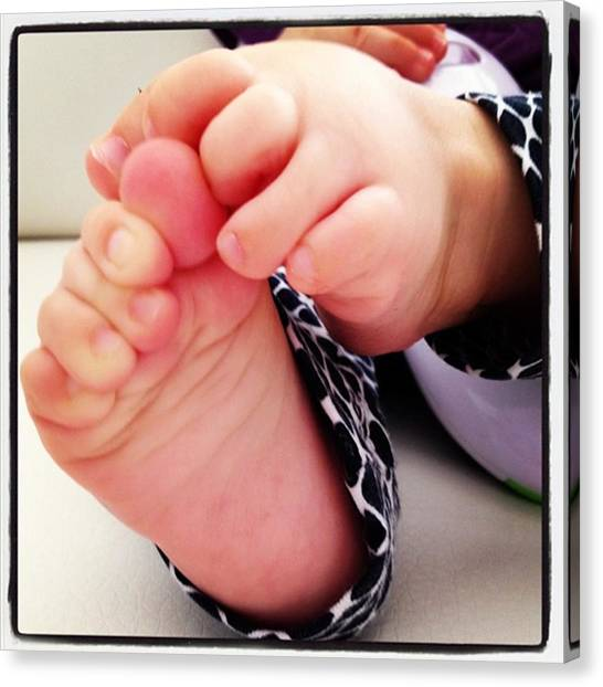 Kids Canvas Print - Little Foots by Luisa Azzolini