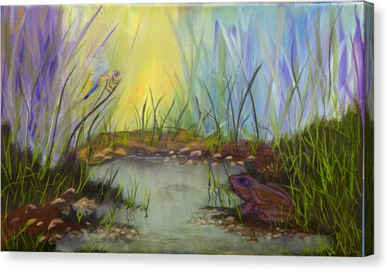 Little Frog Pond Canvas Print